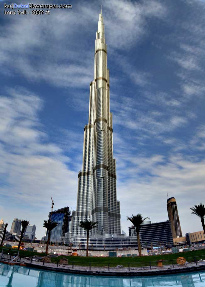The height of the dubai tower