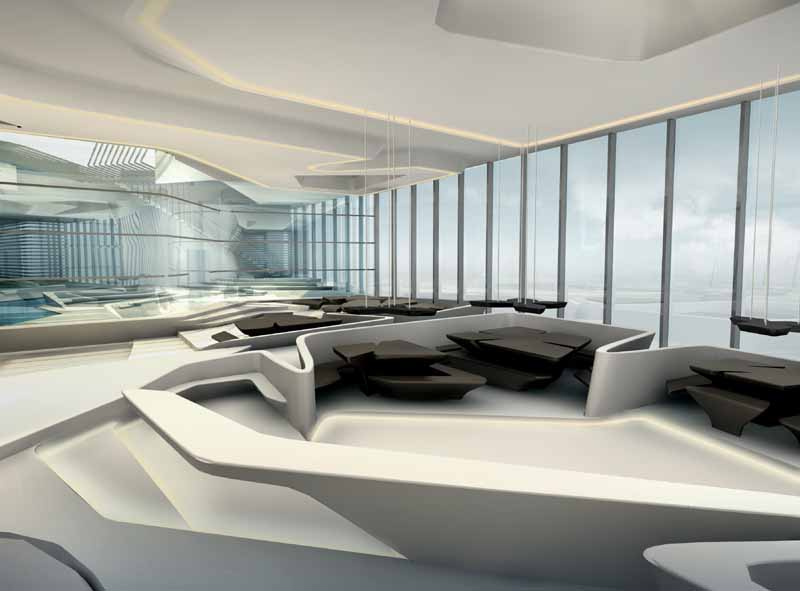 Deconstructivism Furniture Interior Design ~ The opus dubai zaha hadid building e architect