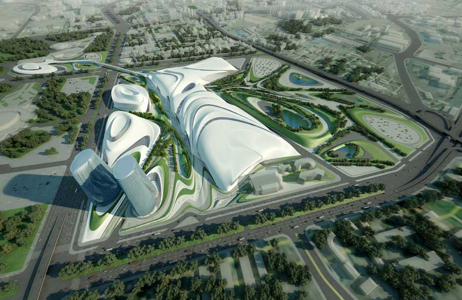 Cairo Expo City Competition, Zaha Hadid Egypt Building - e-architect