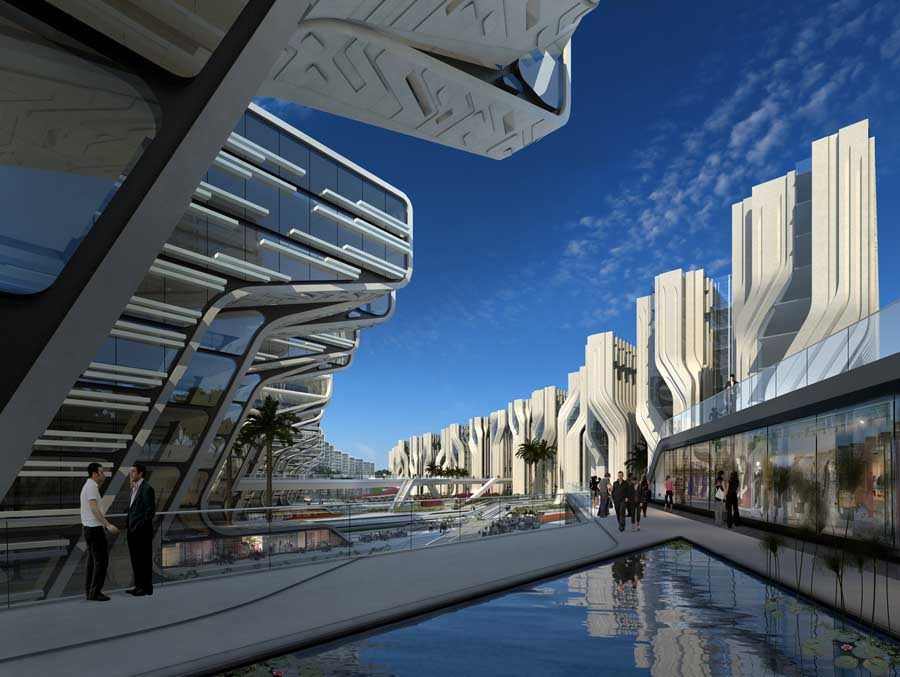 Stone towers cairo egypt buildings by zaha hadid e architect - Architecturen volumes ...