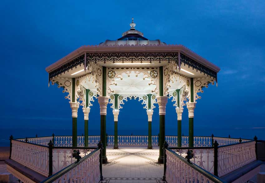 Cast Iron Paint >> Brighton Bandstand, Pier: Band Stand Building Restoration ...