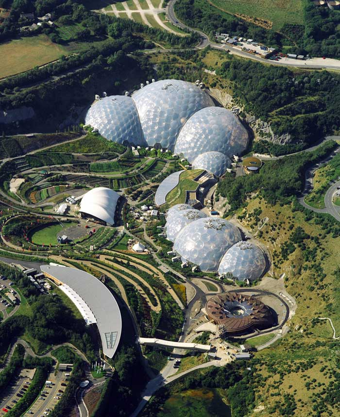 The Eden Project Cornwall Building Cornish Geodesic