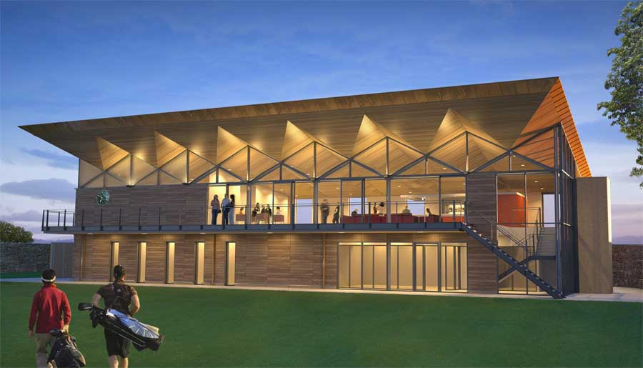 Elstree golf country club hertfordshire building e for Golf course house plans designs