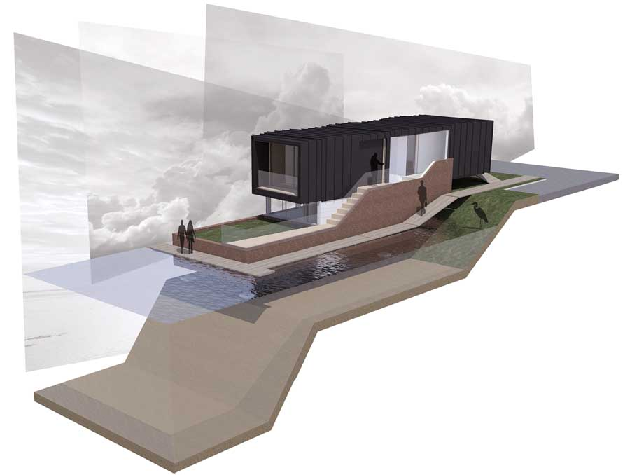 Architecture Design Competitions norwich union flood design competition, winners, uk contest - e