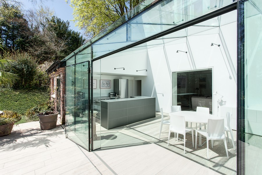 Glass house winchester residence e architect for Winchester architects