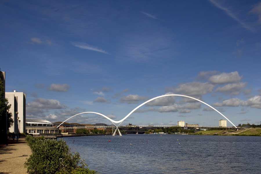 Infinity Bridge Stockton Tees Lighting England