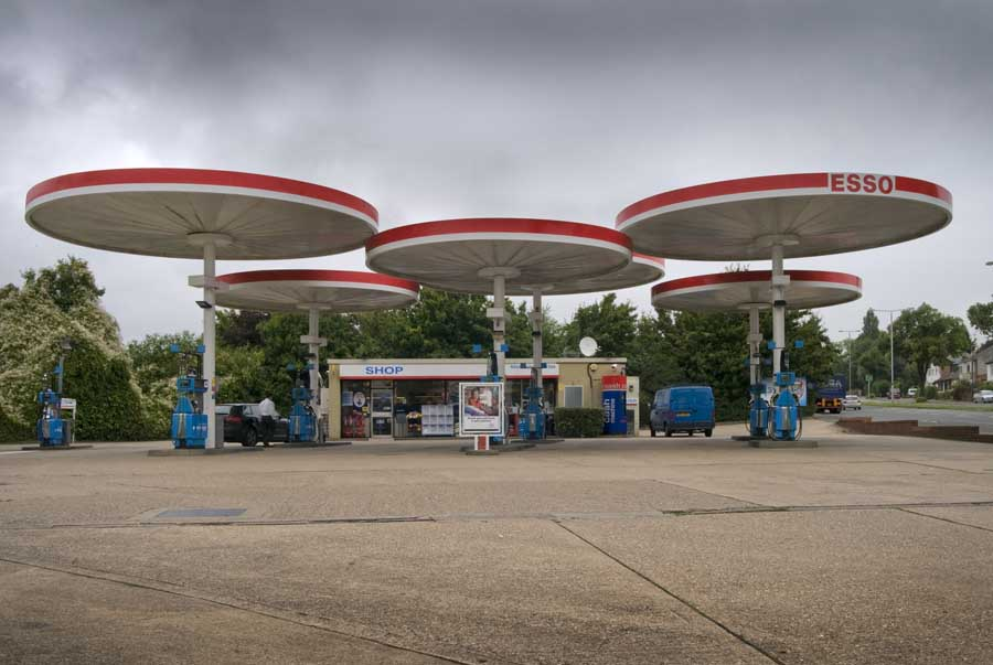 English Petrol Station Designs 1960s Canopies England E