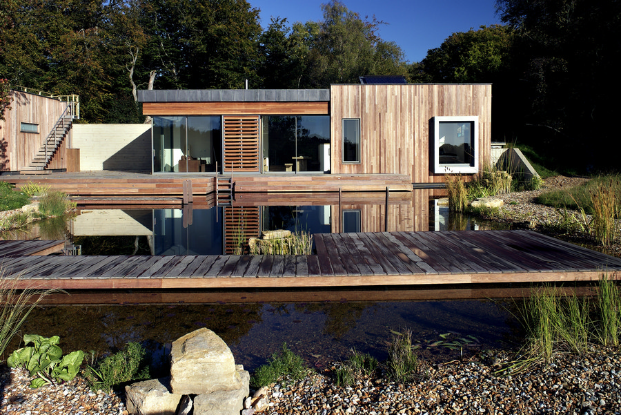 House in the new forest national park e architect for Modern new homes uk