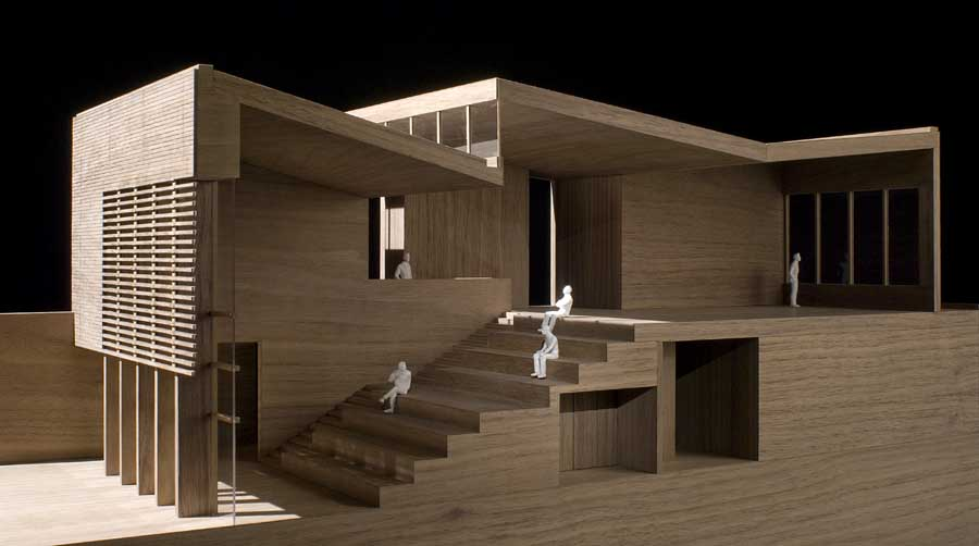 The waingels college wokingham building berkshire e architect - Small spaces architecture model ...