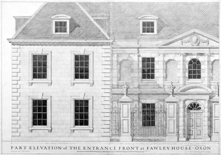 architectural house drawing. Fawley House Architectural Drawing I