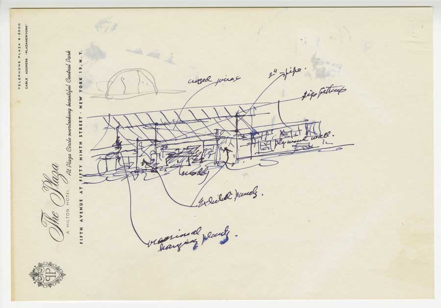 Usonian House Drawings C Frank Lloyd Wright