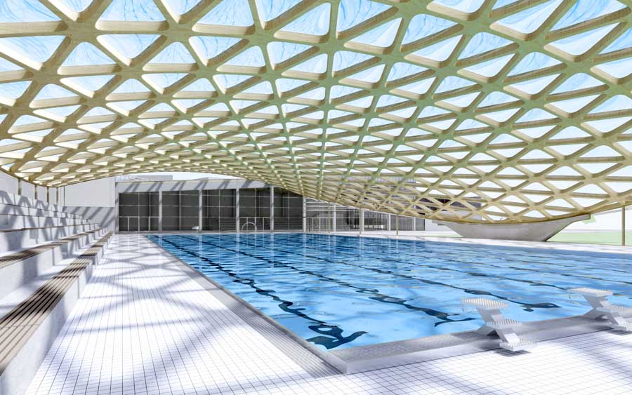 Aquatic center of annemasse centre aquatique d annemasse for Sports pool designs