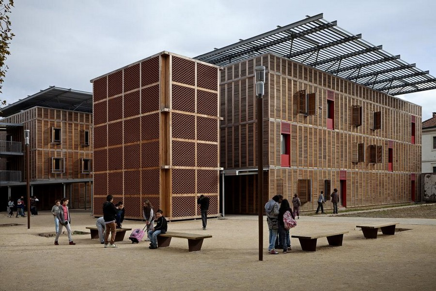 Boarding school of excellence montpellier building e for Montpellier architecture