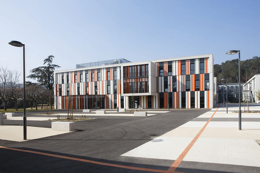 Albert einstein high school france building e architect for Architect education