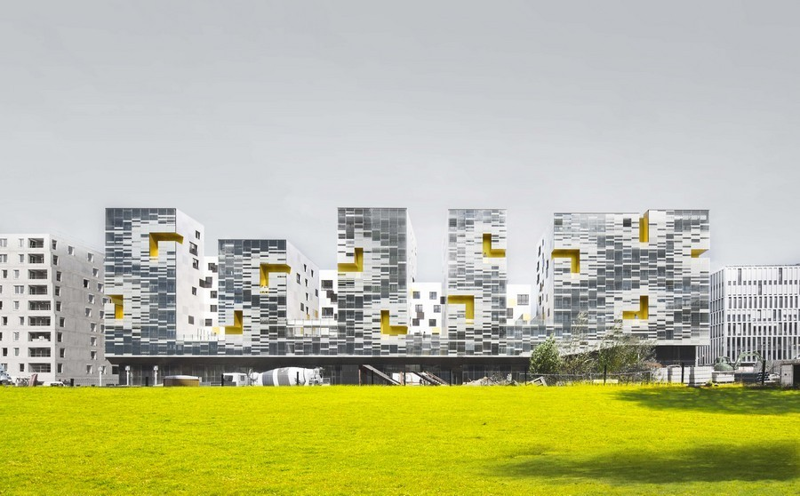 French housing residential buildings france e architect for Architecture fr