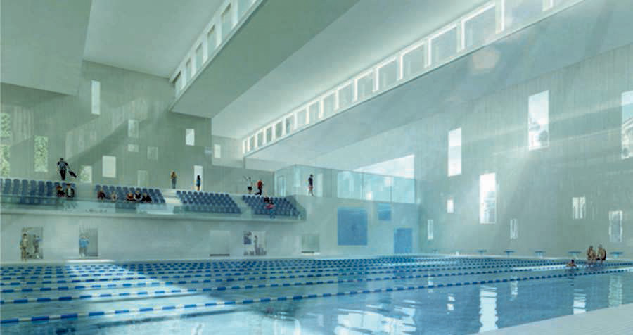 Piscine tourcoing olympic swimming pool in france e for Piscine in french