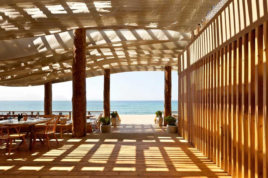 Barbouni beach restaurant navarino dunes hotel e architect