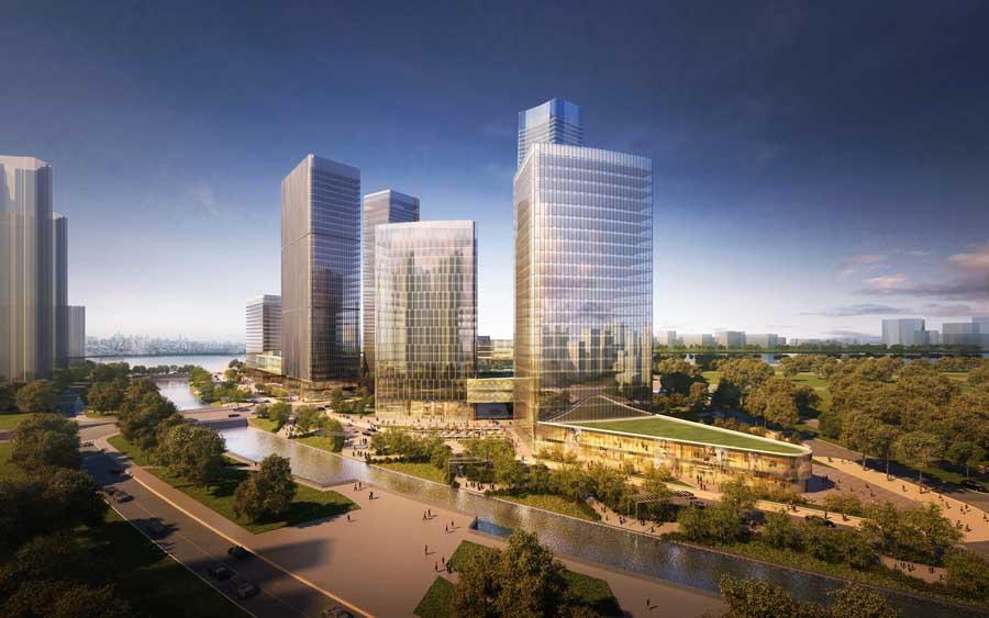 Pazhou Guangzhou Goettsch Partners China Pazhou District