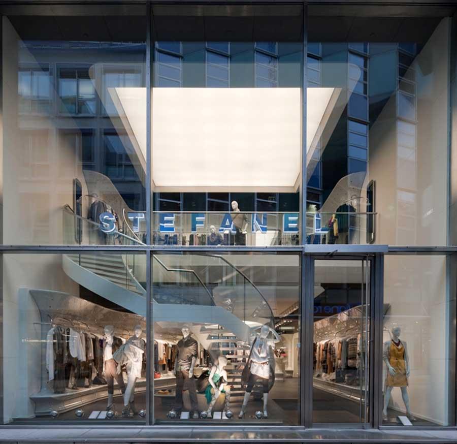 Stefanel hamburg german store retail building stefanel for Design outlet hamburg