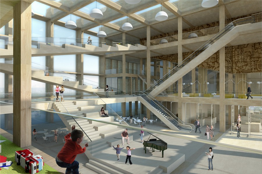 Pinewood Library Helsinki Competition Entry E Architect