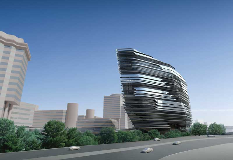 Innovation tower hong kong polyu building e architect for House structure design