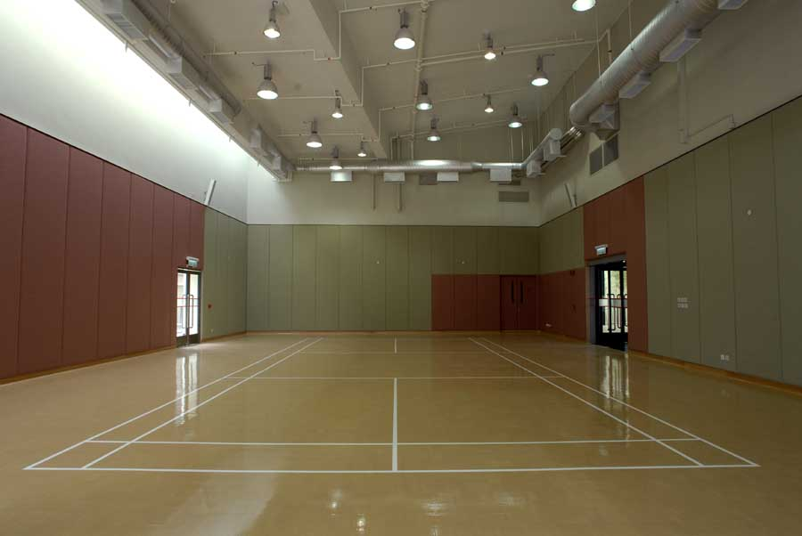 Lingnan university student activity centre hong kong for Badminton court ceiling height