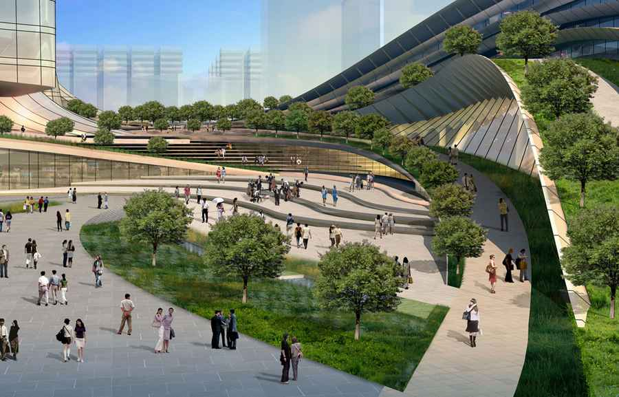 West kowloon terminus express rail link building e for Mtr landscape architects