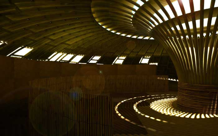 Bamboo Shelter Pavilion Indian Ocean Rim Building E