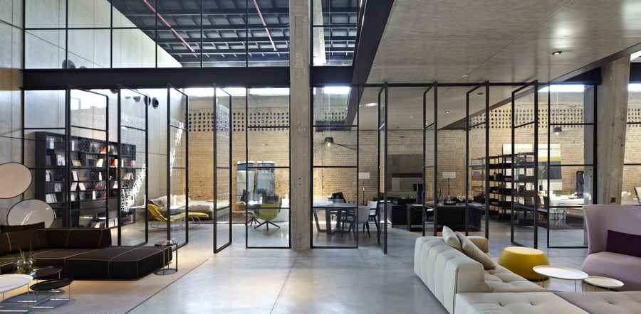 B&B Italia Showroom Tel Aviv Furniture Shop Interior