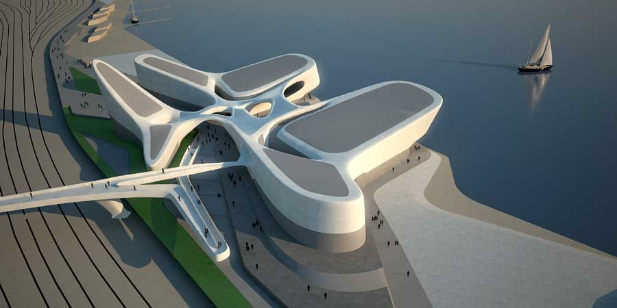 Regium waterfront zaha hadid italy architect e architect for House plans designed for future expansion
