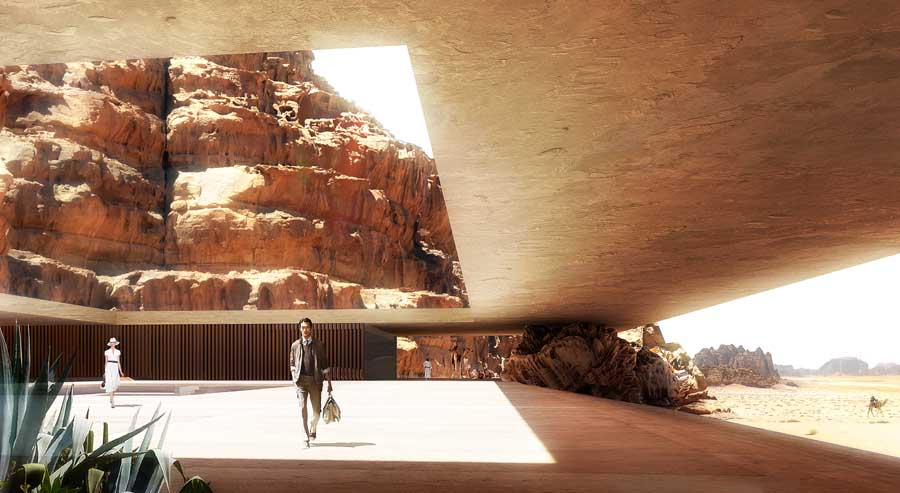 Wadi rum lodges jordan luxury resort e architect - Villa decor desert o architecture ...