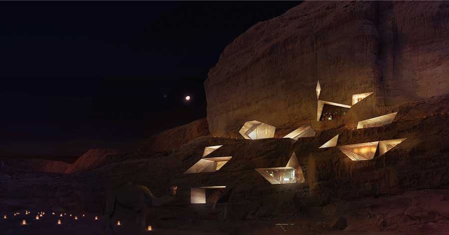 Wadi Rum Primitive Lodges – design by Oppenheim Architecture + Design