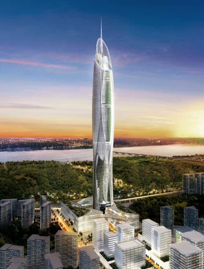 Digital Media City Landmark Tower Image From Architect