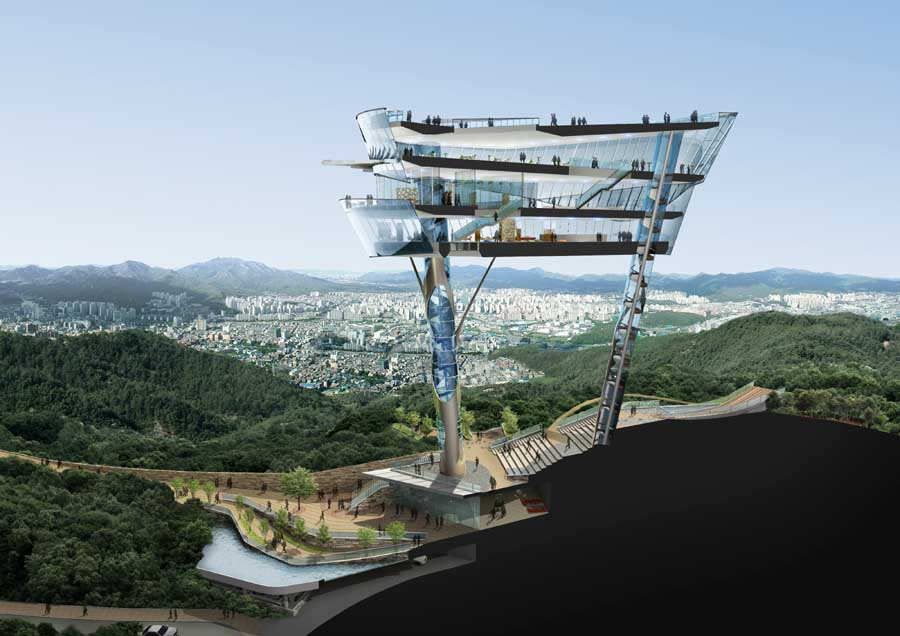 Floating Observatory Korea Building Kyeonggido Sungnam