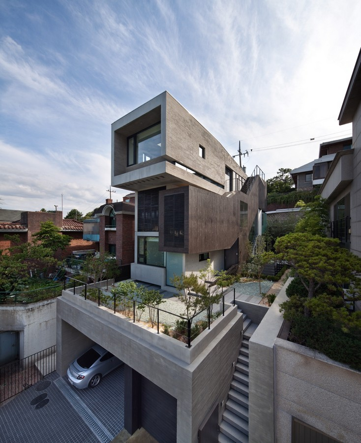 H house south korean residence e architect for Modern house korea