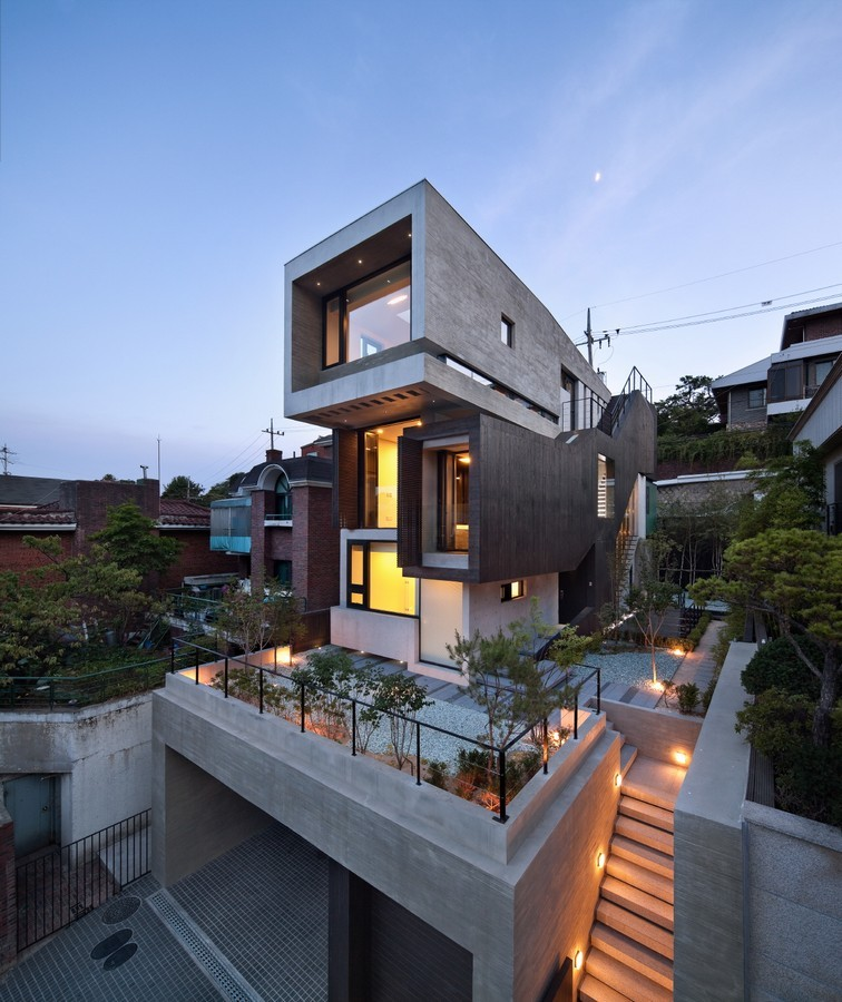 H house south korean residence e architect Modern house website