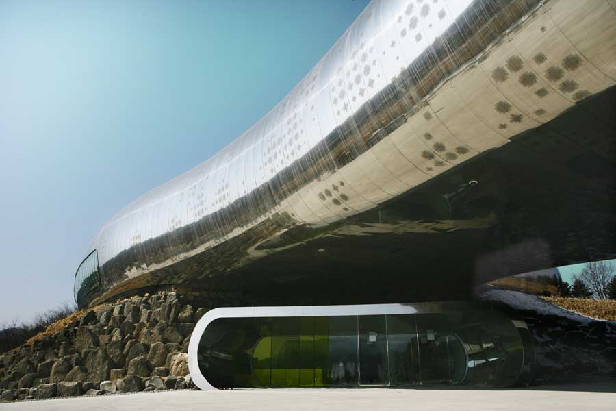 Jeongok Prehistory Museum Korea Gyeonggi Do E Architect