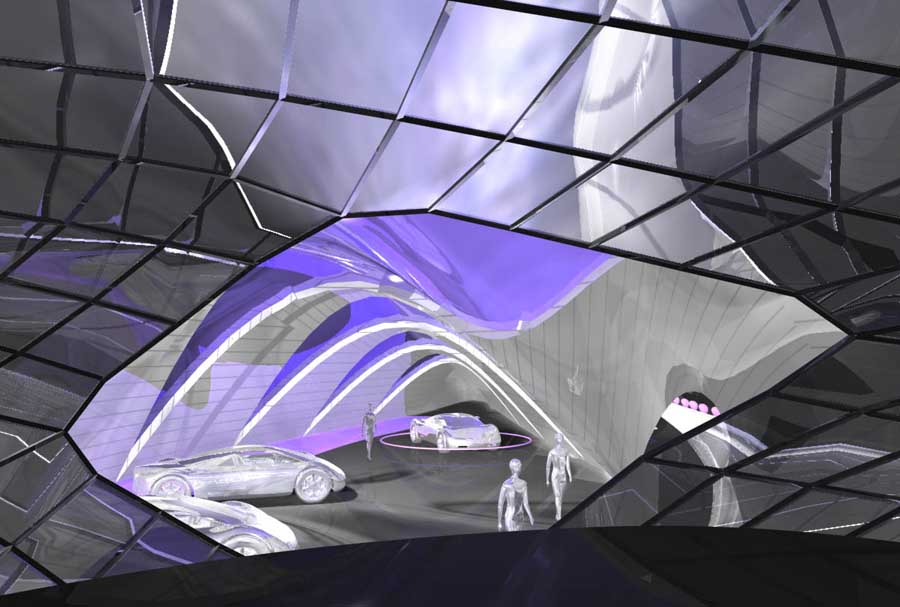 The Design Concept Was Inspired By Studies Of Splines Cars This Elongated Biomorphic Shape Placed Into A Rectangular Box Creates An Impression