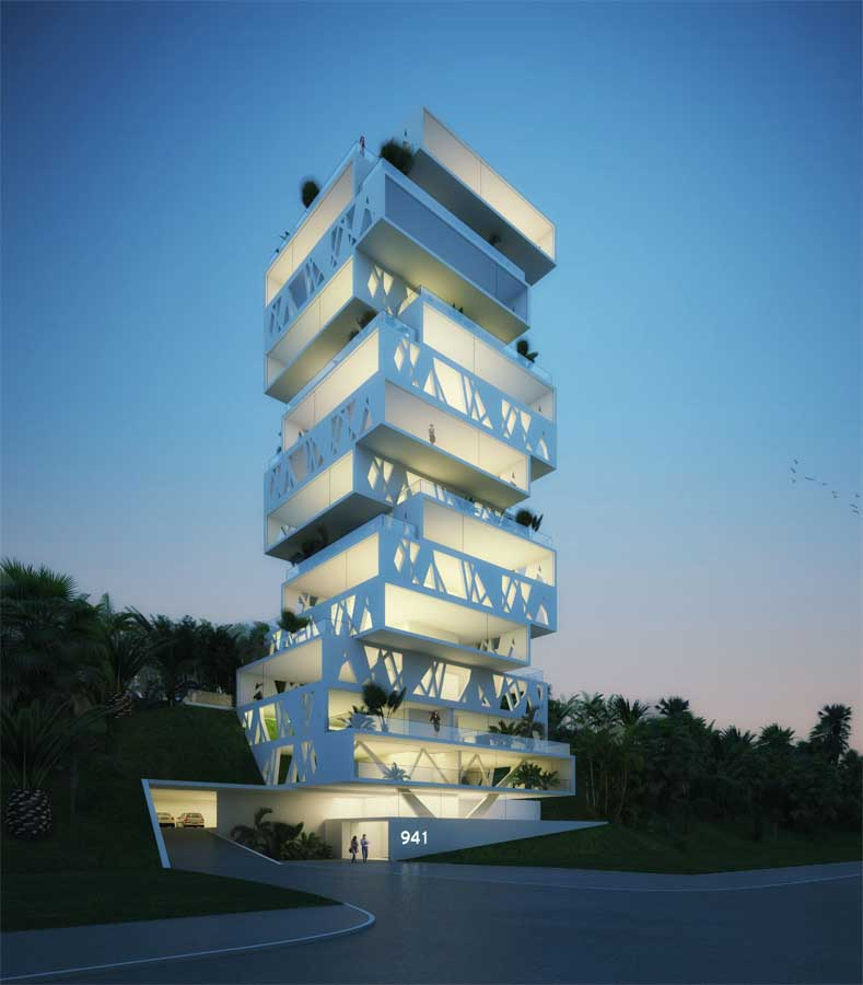 The cube beirut lebanese tower apartments e architect for Design a building