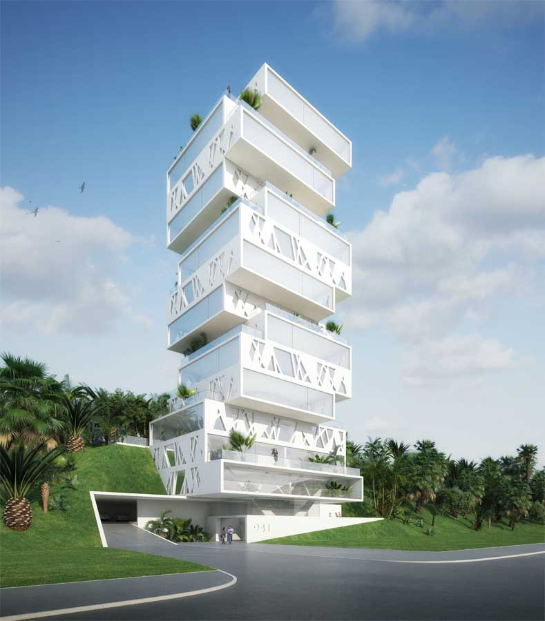 The cube beirut lebanese tower apartments e architect for Architects building designers