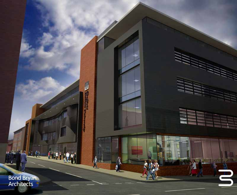 Sheffield hallam university building sheffield aces for Modern commercial building exterior design