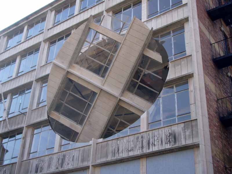 Rotating Liverpool Building Richard Wilson Installation