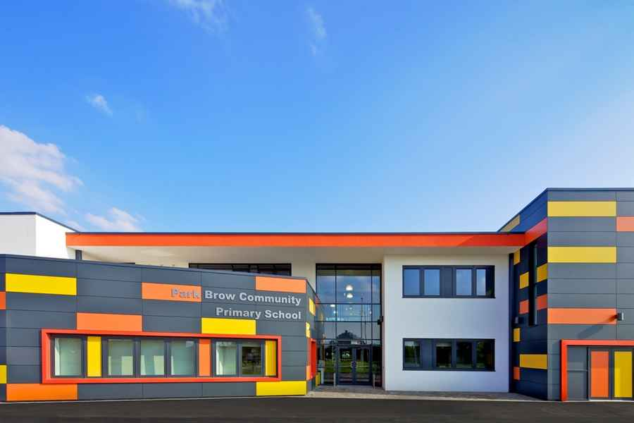 Front Elevation Of School Building : Park brow community primary school kirkby building e