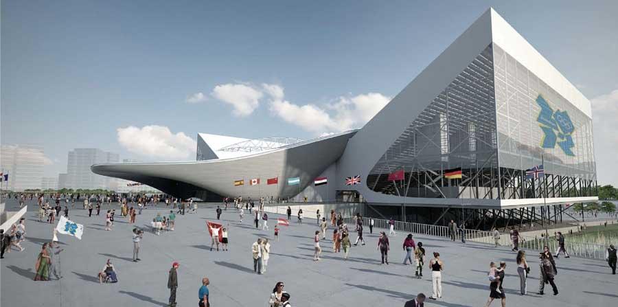 London aquatics centre olympics pool by zaha hadid e for Architecture londres
