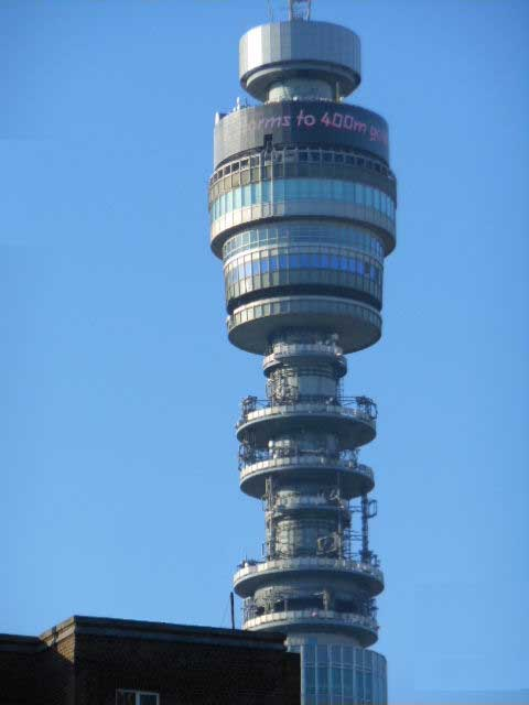 tele  tower london   bt tower   e architect