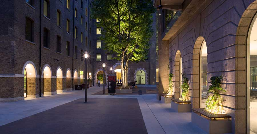 Dining In The Dark London >> Devonshire Square, London Lighting, Speirs and Major - e-architect