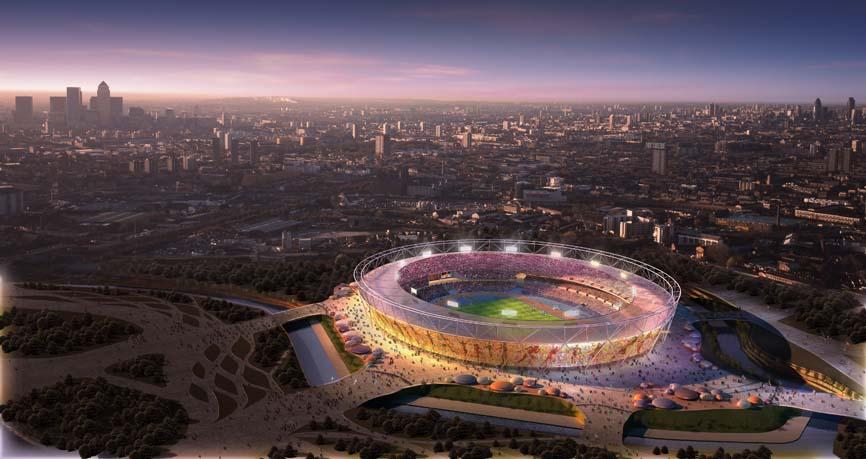 Главный олимпийский стадион в восточном Лондоне на 80 тысяч мест.