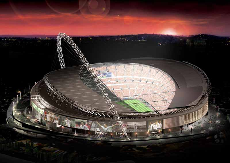 Football stadium buildings arenas e architect london wembley sciox Gallery