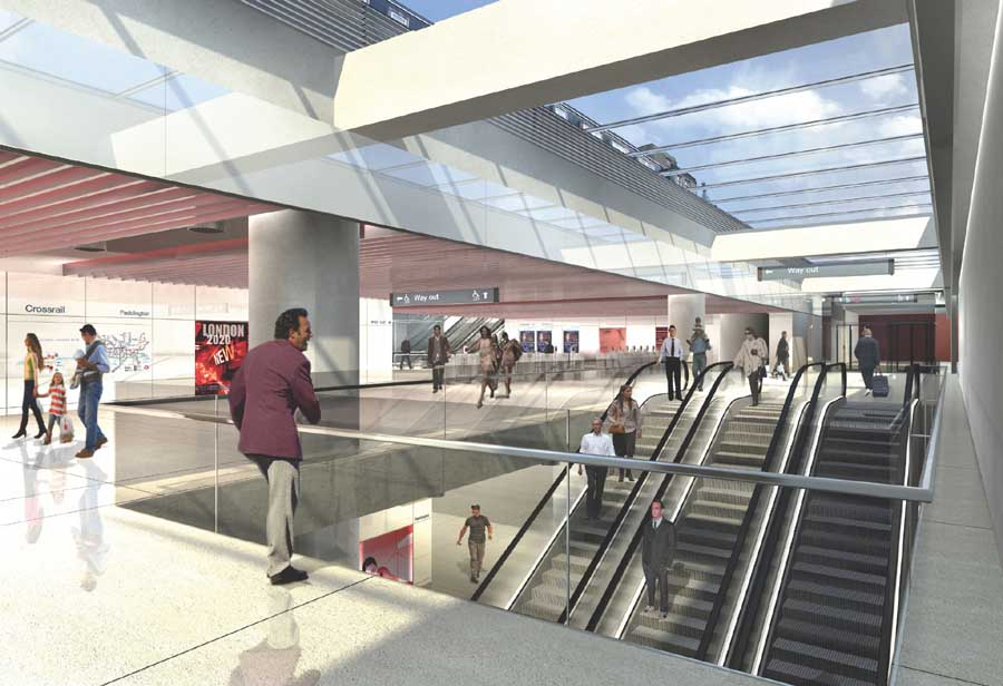crossrail station buildings - london underground stations