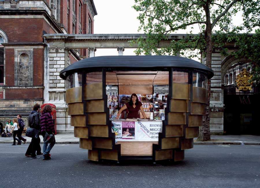 Newspaper Stand Designs : Paperhouse london newspaper kiosks e architect
